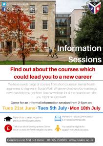 Ruskin College - Information sessions